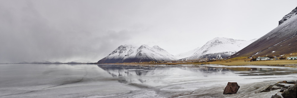 Frozen Mountain Reflections Panorama