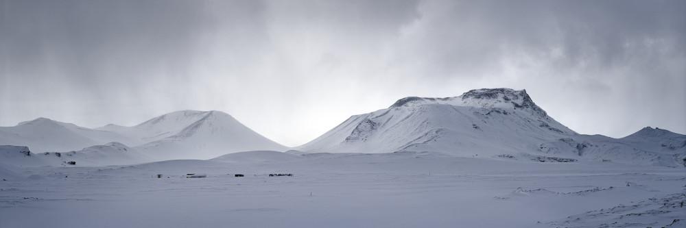 Snow Mountains Panoramic